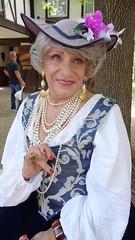 Lady Laurette Wellbeloved (Laurette Victoria) Tags: ladylaurette hat renfaire bristol pearls costume lady woman laurette