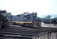 WM 5963 on 9-5-77 (C.W. Lahickey) Tags: wm emd gp9 connellsville