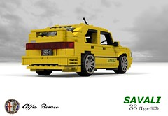 Alfa Romeo 33 Savali (Typ 907) (lego911) Tags: alfa romeo 33 savali sam van lingen hatch hatchback 907 typ type 1980s auto car moc model miniland lego lego911 ldd render cad povray lugnuts challenge 106 exclusiveeditions exclusive special limited edition italy italian boxer