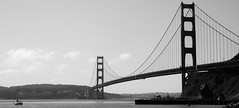 Bridge (chrisroach) Tags: california goldengatebridge usa sanfrancisco blackandwhite bw blackwhite frisco marin sea boat sanfranciscotrip vacation 2014vacations