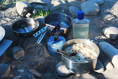 Green Curry with Salmon and Rice (RPahre) Tags: curry salmon rice margarita backpacking pots stove gas fuel yellowstonenationalpark yellowstone