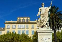 Bastia - Place Saint-Nicolas (SyndromeDeStendhal) Tags: corse corsica napolon statue