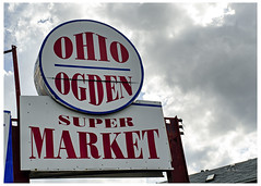 Ohio Ogden Super Market (destroyed) (swanksalot) Tags: sign ohio ogden super market chicago westloop noblesquare tweeted