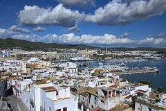 The port of Ibiza (ORIONSM) Tags: port ibiza baleric island spain clouds water boats blue sky infinitexposure