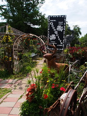 P6080796 (photos-by-sherm) Tags: good quilts retail garden flowers sculpture yard accessories amana iowa summer decorations metal