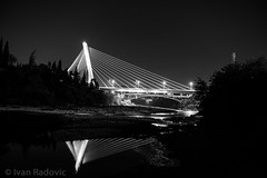 DSC_0903 (ivanradovic) Tags: milenijum brigde refelction night photograhy blackandwhite