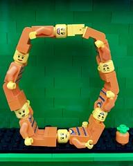 O (Laurene J.) Tags: lego bricksbythebay bbtb2016 minifigurealphabet minifigure minifigs legoalphabet alphabet pilobolusalphabet pilobolus lettering bbtb 2016 bricksofcharacter orange