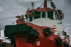 Tugboat (AstridWestvang) Tags: boat detail harbour reflection sandefjord vestfold