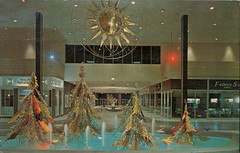 The Mall, Pontiac, Michigan (SwellMap) Tags: postcard vintage retro pc chrome 50s 60s sixties fifties roadside midcentury populuxe atomicage nostalgia americana advertising coldwar suburbia consumer babyboomer kitsch spaceage design style googie architecture mall store plaza
