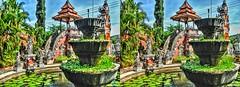 Brahmavira Arama Buddhist Temple 3D (Bruno Zaffoni) Tags: lovina bali indonesia 3d stereoscopy stereophotografy hdr