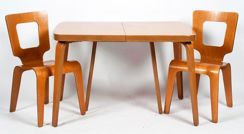Thaden Jordan Molded Plywood Table w/ 6 Chairs ($700.00)