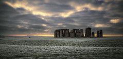Stonehenge (stevoriley) Tags: stonehenge sunrise frost winter