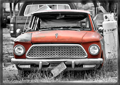 May 2011 - 1962 Rambler American in Bonneville (lazy_photog) Tags: lazy photog elliott photography worland wyoming bonneville railroad town fremont county selective color abandoned automobile car