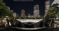 9/11 Memorial (DSC08654-Edit-2) (Michael.Lee.Pics.NYC) Tags: newyork wtc worldtradecenter 911fisheye night cityscape fisheye fisheyehemi sony a7rm2 rokinon12mmf28
