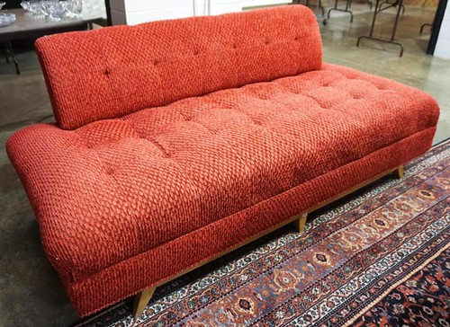Mid-Century-Modern Knoll Red Sofa ($280.00)