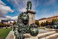 Stockholm (Tuomo Lindfors) Tags: tukholma stockholm ruotsi sverige sweden kungstrdgrden puisto park kuningas kung king karl xiii patsas statue staty topazlabs adjust restyle leijona lion lejon