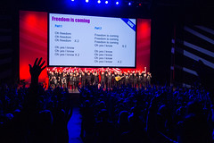 Audience and choirs on stage at TEDx2016