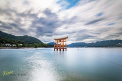 Long Exposure Itsukushima Shrine (Kostas Trovas) Tags: itsukushima hdrfromoneraw asia hightide nature miyajima mefoto tripod roadtrip canon tourists minimalist clouds hiroshima longexposure ef1740f4 buddhism torii beautiful travel japanese shrine 6d sky gate temple landscape japan traditional