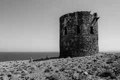 Tower (philippmiesbauer) Tags: buggerru land sardinien bw italien italy sardinia ocean stone rock shadow monocrome