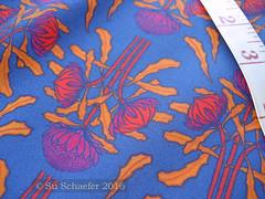 'Waratahs on mid-blue': close up on basic cotton (Su_G) Tags: waratah waratahs waratahflower australianwildflower australiana australia sug spoonflower swatch basiccottonultra artnouveau bright lucienhenry