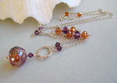 Twilight (Beguiled By The Bead) Tags: amber necklace jewelry jewellery mauve swarovski pendant irridescent sterlingsilver isabelleanderson