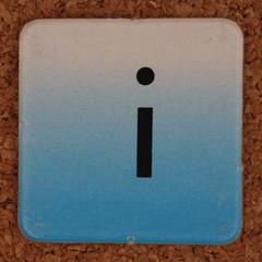 cardboard tile letter i
