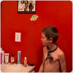 Snake (murphyphotoinc) Tags: kids snake vanity reptiles