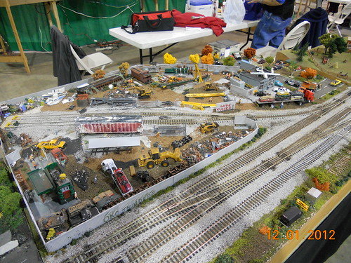 Model train railroad layout HO-scale at Oklahoma City model train show 36th annual