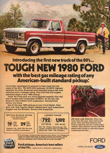 ford truck vintage ranger ad f150 february popular 1980 mechanics