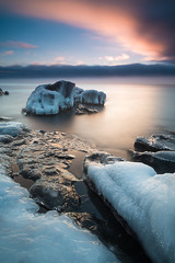 Along the Winter Shore (Bryan Hansel) Tags: winter minnesota sunrise mn lakesuperior cascaderiverstatepark
