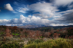 Landscape (Theophilos) Tags: trees sky mountains nature clouds view crete rethymno