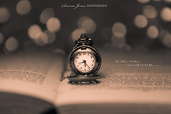 Time (Serena178) Tags: clock vintage reading book time bokeh quote watch canon5d bokehthursday