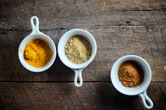 Warming Spices for Winter (abrowntable) Tags: food india cooking vegetables recipe soup ginger cinnamon indian bean vegetarian garlic onion recipes turmeric leeks soups aduki