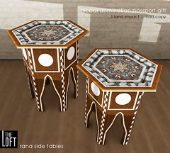 The Loft - Rana Moroccan Side Tables (Colleen Desmoulins / Loft & Aria) Tags: life loft bench table furniture side virtual second turkish moroccon