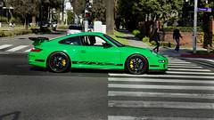 green beetle (McManF1) Tags: california green sports car santamonica 911 exotic porsche rs gt3 gt3rs blackwheels