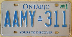 ONTARIO 1998 ---LICENSE PLATE (woody1778a) Tags: world auto ontario canada cars car sign vintage edmonton photos tag woody plate tags licenseplate collection number photographs license plates foreign numberplate licenseplates numberplates licenses cartag carplate carplates autotags cartags autotag foreigns pl8s worldplates worldplate foreignplates platetag