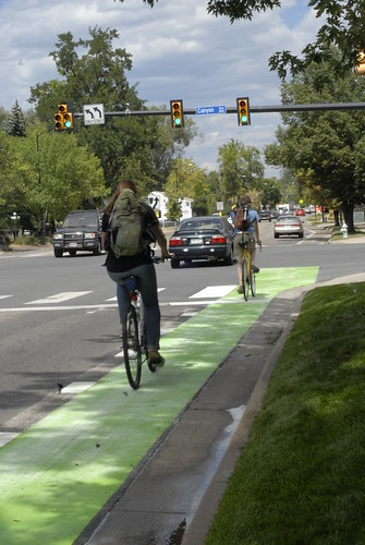 Photo - Green Bike Lanes