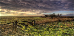 Gate with a view (J.W.Turner) Tags: blue sky cloud green field grass canon kent gate tokina marsh turner hdr 1224 paddock cokin stod 121s 60d zpro