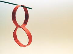 Two permanently interlocking rings (Jeremy Shafer) (Danielle Verbeeten) Tags: art paper origami ringen papier paperfolding papiroflexia folding vouwen vouwkunst papierkunst papiervouwen danielleverbeeten twointerlockingrings