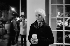 And the Rest Just Turns to Dust Before I Get to You (RobVSF) Tags: sanfrancisco street portrait blackandwhite bw 120 film lamp angel night mediumformat streetlight fuji kodak trix rangefinder 400 slowshutter handheld epson 6x9 90mm fujinon threequarter v700 6x9cm gw690ii