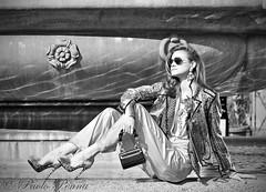 Beauty (paolopenna) Tags: street portrait bw italy rome roma girl canon blackwhite model italia 5d canon5d carnevale 85 ritratto bianconero greyscale modella ef85f18usm portraitworld blinkagain paolopenna