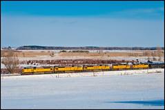 MPRSS near Glen Oak (2 of 3) (Philip_Martin) Tags: winter up wisconsin oak adams pacific union glen line dalton wi glenoak sd9043mac mprss
