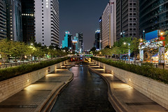 Go with the flow (3) (Charn High ISO Low IQ) Tags: longexposure nightphotography canon eos canal stream cityscape seoul southkorea hdr waterflow cheonggyecheon 600d