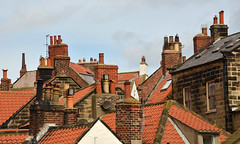 Robin Hoods Bay - Rooftops & Chimney Pots (sweetpeapolly2012) Tags: chimney robin pots tiles hoods baynorth yorkshirerooftops