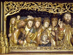 Altar of Saint Barbara, 1509, Bansk Bystrica, predella, Fourteen Holy Helpers (DeBeer) Tags: sculpture art saint statue angel carved shrine madonna gothic carving relief slovensko slovakia virginmary gilded woodcarving arthistory pinnacle babyjesus madonnaandchild woodenstatue woodensculpture 16thcentury gilding stjerome madonnawithchild 1500s 1509 christchild levoca stbarbara saintjerome polychromy lategothic levoa infantjesus banskbystrica saintbarbara gothicart bystrica masterpaul polychromed salvatormundi gothicsculpture predella northernrenaissance 16thcenturyart gothicstatue femalesaint malesaint gothicaltar early16thcentury lategothicart gothicrelief slovakart masterpauloflevoa lategothicsculpture lategothicstatue slovaksculpture 16thcenturysculpture 16thcenturystatue 14holyhelpers