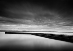 CALM. (Neil Hulme.) Tags: longexposure blackandwhite white motion water monochrome lumix mono fineart minimalist ndfilter daytimelongexposure nd110filter blackandwhitelongexposure seaandseashore