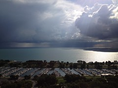 Heavenly:  Explored 3.7.2013 (michael.veltman) Tags: sun sunlight lake chicago water clouds illinois michigan lakeview
