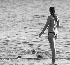 The submerged body (M Hooper) Tags: summer hot beach water bondi swim sydney australia bum bikini swimmers