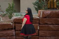 I know you like my stocking seams.. (Pair-A-Ducks Studios) Tags: red arizona black fountain glasses dress unitedstates glendale valentine mara rockabilly valentines pinup valentinesday chino redtop blackdress marachino