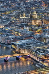 London: The View from The Shard (ovofrito) Tags: uk inglaterra england london church night nikon cathedral stpauls londres shard hdr photomatix d300s theviewfromtheshard